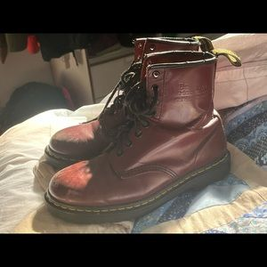 Cherry red dr martens. SIZE 8 womens